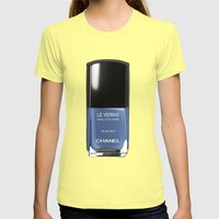 Chanel Nail Polish Blue … Womens Fitted Tee Lemon SMALL