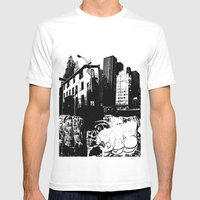 GRIND Mens Fitted Tee White SMALL