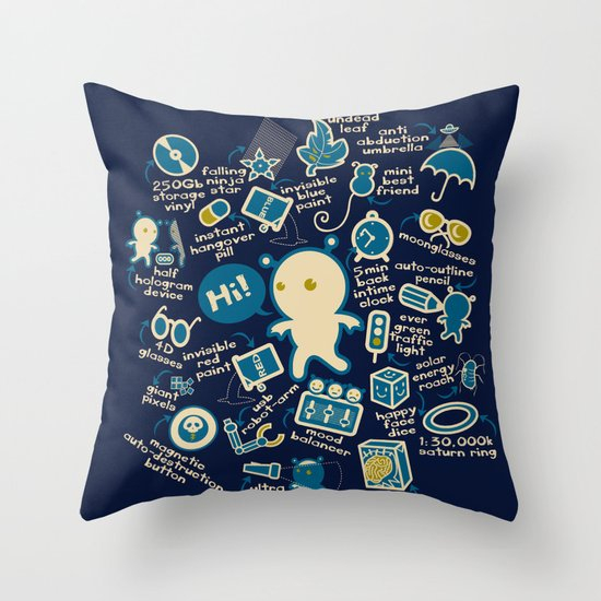 AWESOME BIBI'S GADGETS Throw Pillow