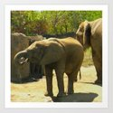 Having a Drink with Mom Art Print