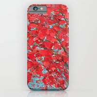 iPhone Cases featuring Highlands Red Maple by Ann Marie Coolick