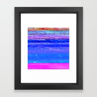 Glitch Forest Framed Art Print