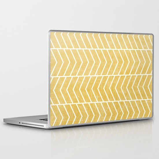 Yellow Chevron Laptop & iPad Skin