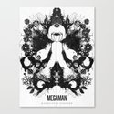 Megaman Geek Ink Blot Test Canvas Print