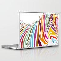 zebra Laptop & iPad Skins featuring Zebra by graphicinvasion