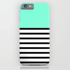Tiffany Black and White Stripes Pattern iPhone 6 Slim Case