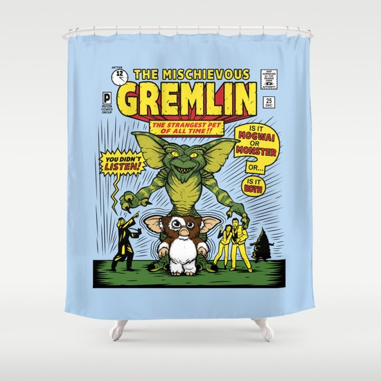 The Mischievous Gremlin Shower Curtain