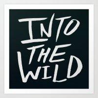 Into the Wild x BW Art Print