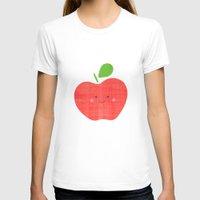 apple T-shirts featuring apple by Berreca