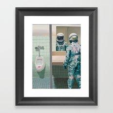 Men's Room Framed Art Print