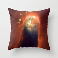 Space Volcano Throw Pillow