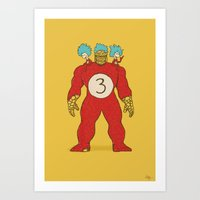 3 Things Art Print