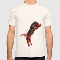 Splatter Tiger Mens Fitted Tee Natural SMALL