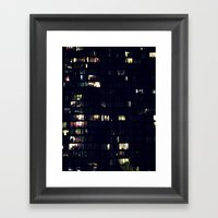 Night Time Lights Framed Art Print