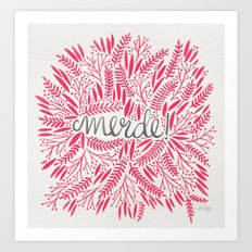 Pardon My French – Pink Art Print
