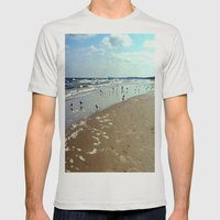 Gulls On The Baltic Sea… Mens Fitted Tee Silver SMALL