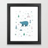 Bear-y Nice to Meet You Framed Art Print