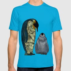 Emperor Penguins Mens Fitted Tee Teal SMALL
