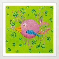 the bird-fish Art Print