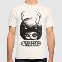 WHO Mens Fitted Tee Natural SMALL