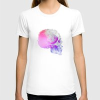 Low poly skull Womens Fitted Tee White SMALL