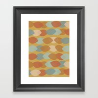 Mod Leaf Lines Framed Art Print