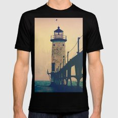 Beacon Mens Fitted Tee Black SMALL
