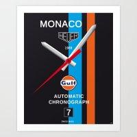 Monaco Tag Heuer Watch, Steve McQueen Le Mans Vintage Poster Decoration Art Print