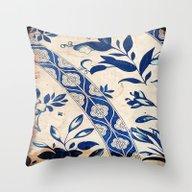 Blue Oriental Vintage Pa… Throw Pillow