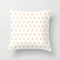 Rhombus Bomb In Linen Throw Pillow