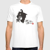 Beauty And The Beast Mens Fitted Tee White SMALL