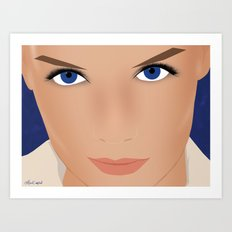 Katie Holmes Art Print