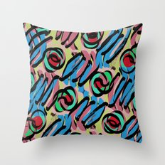 Spots and Stripes pattern Throw Pillow