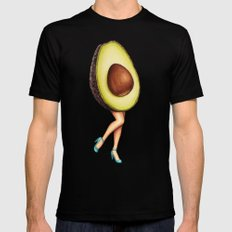 Avocado Girl SMALL Mens Fitted Tee Black