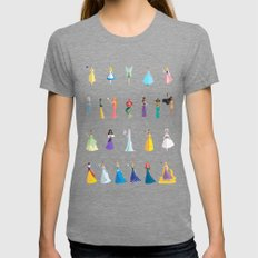 Princesses & Heroines Womens Fitted Tee Tri-Grey SMALL