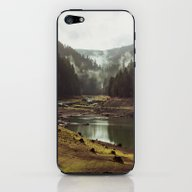 iPhone & iPod Skin featuring Foggy Forest Creek by Kevin Russ