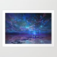 Ocean, Stars, Sky, And Y… Art Print
