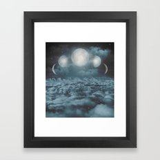 Uncertain. Alone. Cratered By Imperfections. (Loyal Moon) Framed Art Print