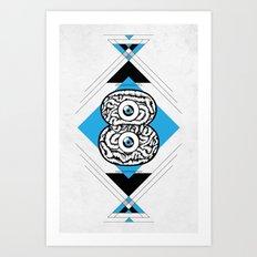 8 Brain Art Print