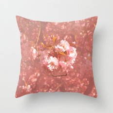 Pink Amongst The Trees Throw Pillow