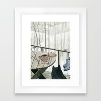 Winter Breakfast On The … Framed Art Print