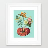 Framed Art Print featuring Kidney On Drugs by Natalie Bessell