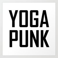 yoga punk Art Print