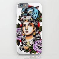 PaperTigress girl with tiger head - tattoo iPhone 6 Slim Case