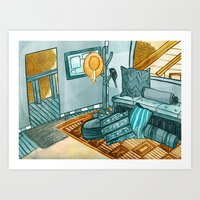 Inside Our Treehouse Art Print
