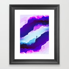 Violet dream of Isolation Framed Art Print