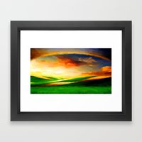 Colorful Sky - Painting … Framed Art Print