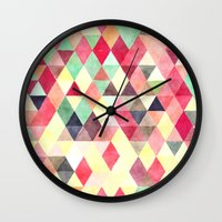 Triangles colors Wall Clock