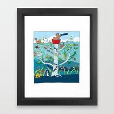 going to sea Framed Art Print
