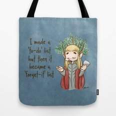 Thranduil To-Do List  Tote Bag